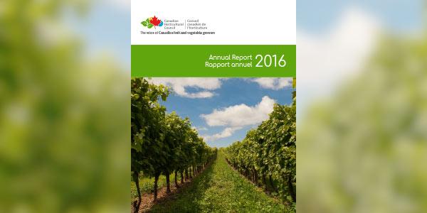 page couverture d'un rapport annuel