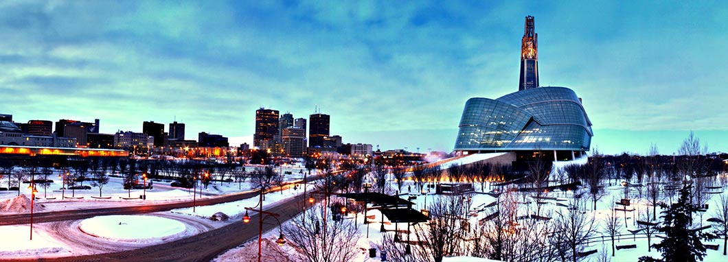 Winnipeg skyline with Human Rights museum