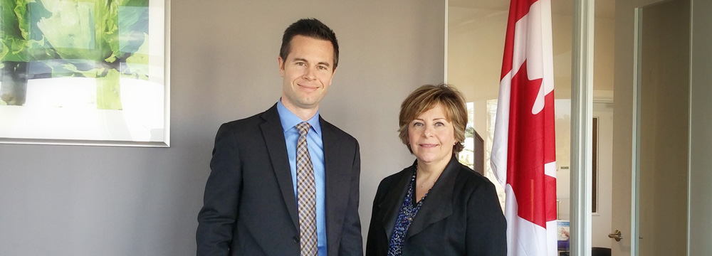 CHC's new managers: David Folkerson (Communications) and Nancy Baker (Policy Research and Development). Photo: CHC