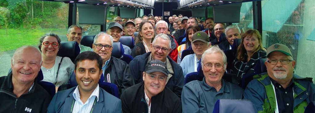 Government and industry representatives on CHC's summer bus tour