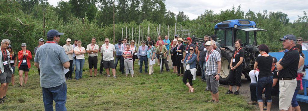 Participants on field tour