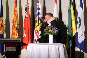 Craig Hunter and Rebecca Lee embrace