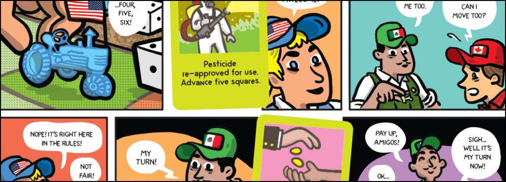 Sample of comic strip.