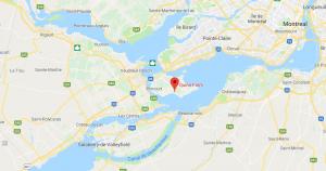 Google map of the region